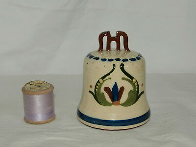 Rare Longpark Torquay Pottery Church Bell With Original Clapper