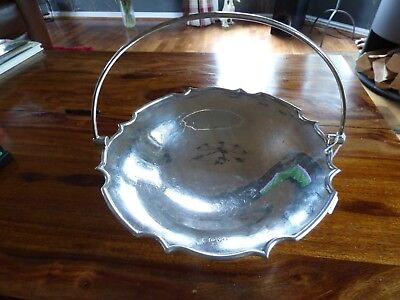 A Solid Silver Chester Swing Handle Fruit Dish
