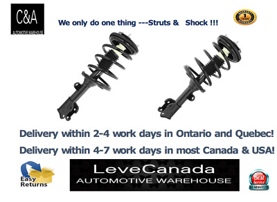 (2)Front Quick Complete Strut & Coil Spring Assembly fit 2007-09 Hyund Santa Fe