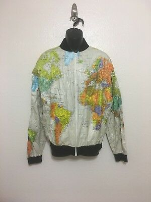 RARE VINTAGE WEARIN\' The World Geographic World Map Jacket Unique ...
