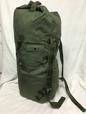 Real USGI Duffel Bag Army USMC Navy Sea Duffle OD Green Military Luggage US VGC