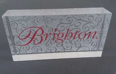 BRIGHTON Jewelry Store Display Counter Top Sign Acrylic