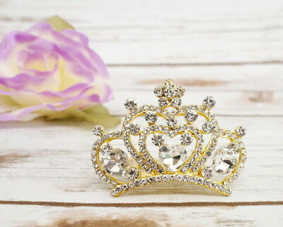 Rhinestone Mini Tiara with Comb Crystal Wedding Crown Bridal Prom Pageant Party