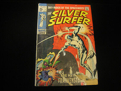 The Silver Surfer #7 (Aug 1969, Marvel) VERY LOW GRADE