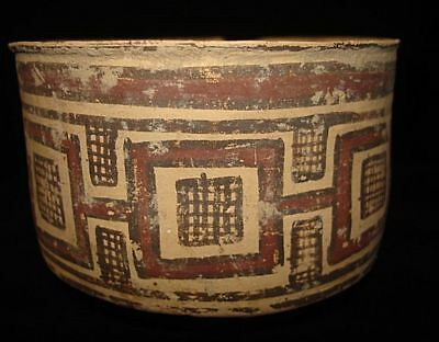 UNIQUE!   AMAZING PAINTED BOWL RARE ONE!  5000 years old! 3000BC~~~no reserve