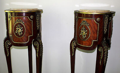 Pair of antique French Empire Pedestal Stands Louis XVI Style