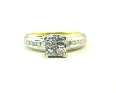 18ct Gold 0.44 Carat Diamond Ring with $1,920 Valuation Size J1/2