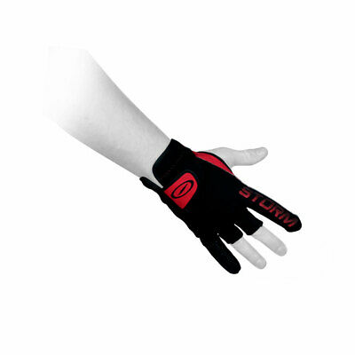 Bowling Ball Glove Storm Power Glove with Three Palm Pads Black Red