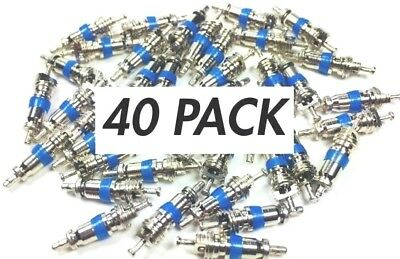"""40 HVAC Schrader Valve Core Port Air-Conditioning Freon Access 1/4"""" Flare A/C Ac"""