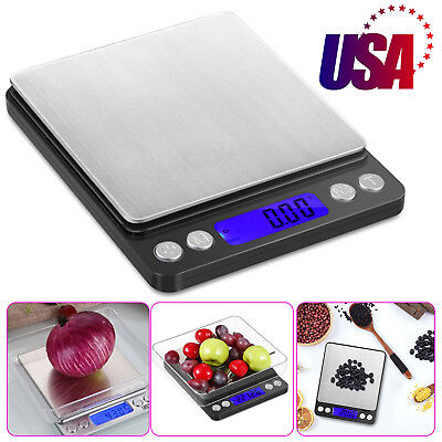 0.01-500g Digital LCD Scale Kitchen Jewelry Electronic Balance Food Weight Scale