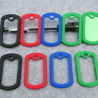 1000pcs/lot square shape rubber silicone silencers for army dog tags 50*29mm