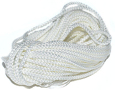 5m x 2.5mm POLYESTER PICTURE FRAME HANGING WHITE CORD No.3 BRAIDED 8 PLAIT 120kg