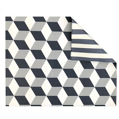 Play with Pieces - Grey Geo/Stripe Play Mat