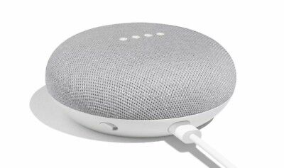 New Google Home Mini Hands Free Voice Enabled Smart Assistant - Chalk Gray White