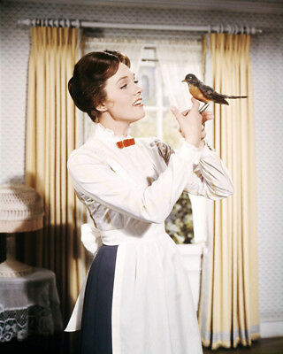 Julie Andrews 8x10 Photo Poster Print With Bird Mary Poppins