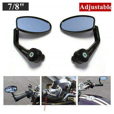 "Motorcycle 7/8"" Handle Bar End Rearview Side Mirrors For Honda KTM Yamaha Ducati"