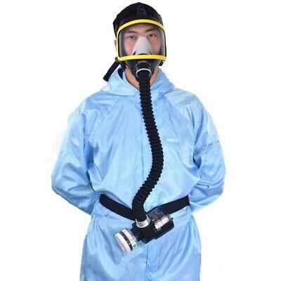 Electric Constant Flow Supplied Air Fed Full Face Gas Mask New Respirator System