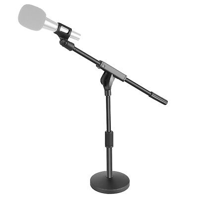 Neewer Short Desktop Microphone Stand with 5.5 inches Round Weighted Base