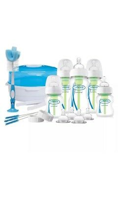 Dr Browns Options Baby Bottle & Steriliser Gift Set - Bottle Brush, Teats, Tongs