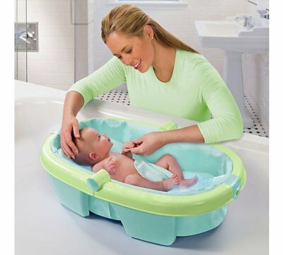 Summer Infant Newborn to Toddler Fold Away Baby Bath Highlight Of This Bath NEW