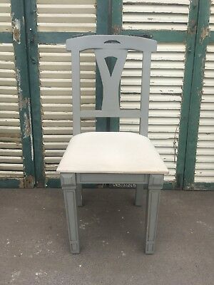 Pretty Single French style Painted CHAIR - Drop in seat - DESK / DINING