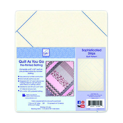Quilt As You Go Pre-Printed Fusible Batting 6 Pack | Sophisticated | JT1405