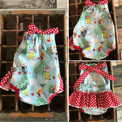 Cute Newborn Toddler Baby Girl Clothes Romper Jumpsuit Sunsuit Outfits US Stock