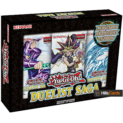 YuGiOh Duelist Saga Mini Booster Box Contains 3 Packs of 5 Cards New & Sealed