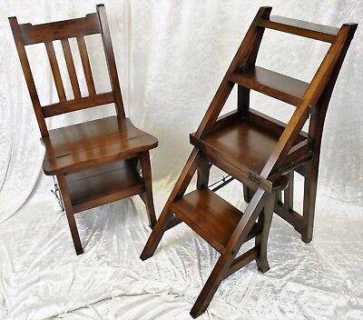Beautiful New Solid Mahogany Metamorphic Steps/chair. Free Delivery