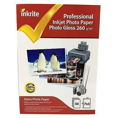 "50 Sheets of Inkrite Gloss Photo Paper 7x5"" (260gsm)"