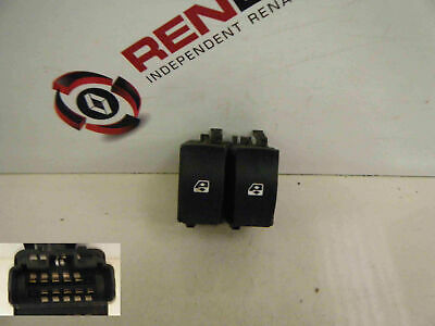Renault Clio MK2 2001-2006 Drivers OSF Front Electric Window Switch Dual 542104