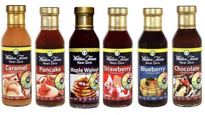 Walden Farms Near Zero Calorie Syrup Bundle (Pack of 6)