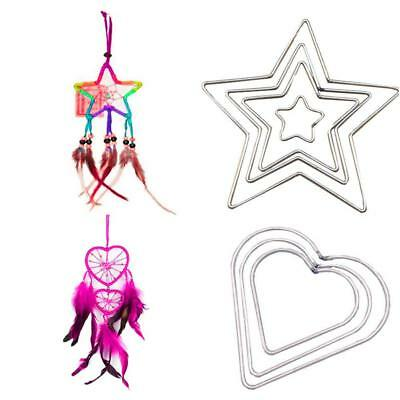 Welded Metal Dream Catcher Dreamcatcher Ring Heart Star Craft Hoop DIY Parts