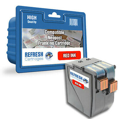 Refresh Cartridges Red 10180-800; 300239; 4135565E;  Compatible With Neopost Pri