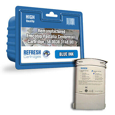 Refresh Cartridges Blue 58.0038.3148.00 Ink Compatible With Francotyp Postalia P