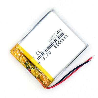 5 pcs 483740 800mAh 3.7 V Li-Polymer Rechargeable Battery LiPo Cell for GPS MP3