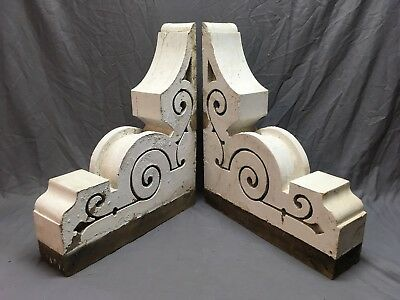 Pr Antique Victorian Gingerbread Porch Corbels Shelf Brackets Vtg Chic 287-18E