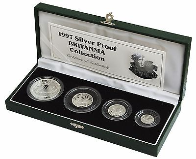 Britannia Silver Proof 4 Coin Set Cased With Coa Choice Of Year