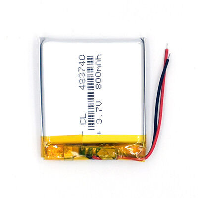 10pcs 483740 Rechargeable Battery 3.7V 800mAh Li-Polymer Li-ion LiPo for GPS MP3