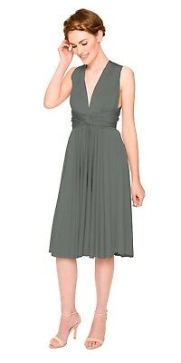 11e3756fbee0 Two Birds Convertible Bridesmaid Dress - Classic Short Straight - Charcoal