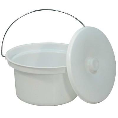 NRS Healthcare M11193 Commode Potty & Lid - Spare or Replacement for...