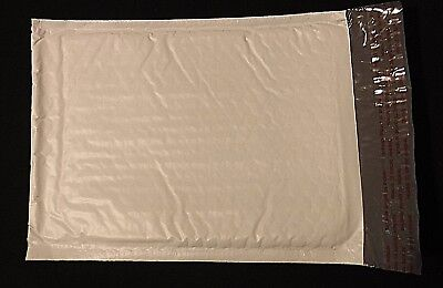 "1-25  Size #0  6"" x 10"" Poly Bubble Mailers White Padded Shipping Bag Self Seal"