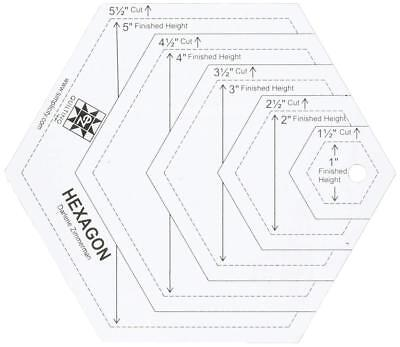 EZ Quilting 882670181A Hexagon Shapes Acrylic Template - White
