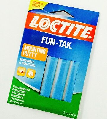 NEW Loctite 2oz Pack Fun-Tak Reusable Removable NonToxic Mounting Putty Adhesive
