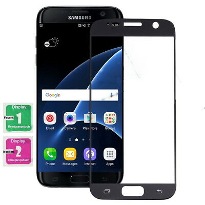 Samsung Galaxy S7 Full Screen Display Schutzglas Echt Glas Panzer Glasfolie 9H