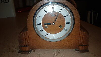Smiths Enfield Striking Oak Mantle Clock Circa 1940's