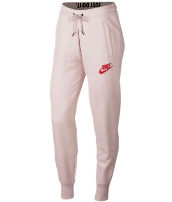 73082fc88ef4 Nike Rally Women s Fleece Pants XS M L XL Particle Pink Sweats Joggers New