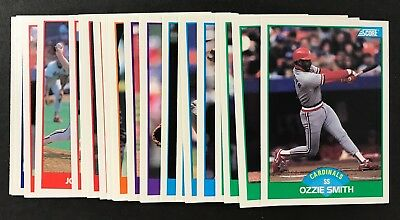 1989 Score Baseball Set In Binder 660 Cards Craig Biggio Randy