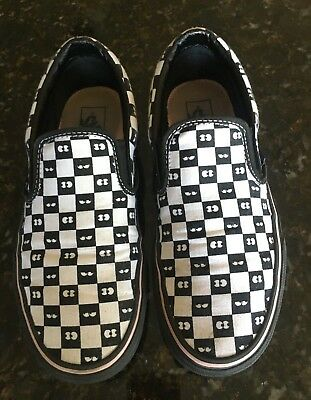 05dcb96b8a7d VANS x Lazy Oaf Classic Slip-On Black Checkerboard Eyeballs Womens Sz 7.5  Rare