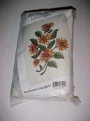 Herrschners Craft Exclusive Design Sunflower Lap Quilt Embroidery 50-018 New